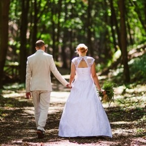 Zsuzsi és Csabi varázslatos, zempléni, erdei esküvője
